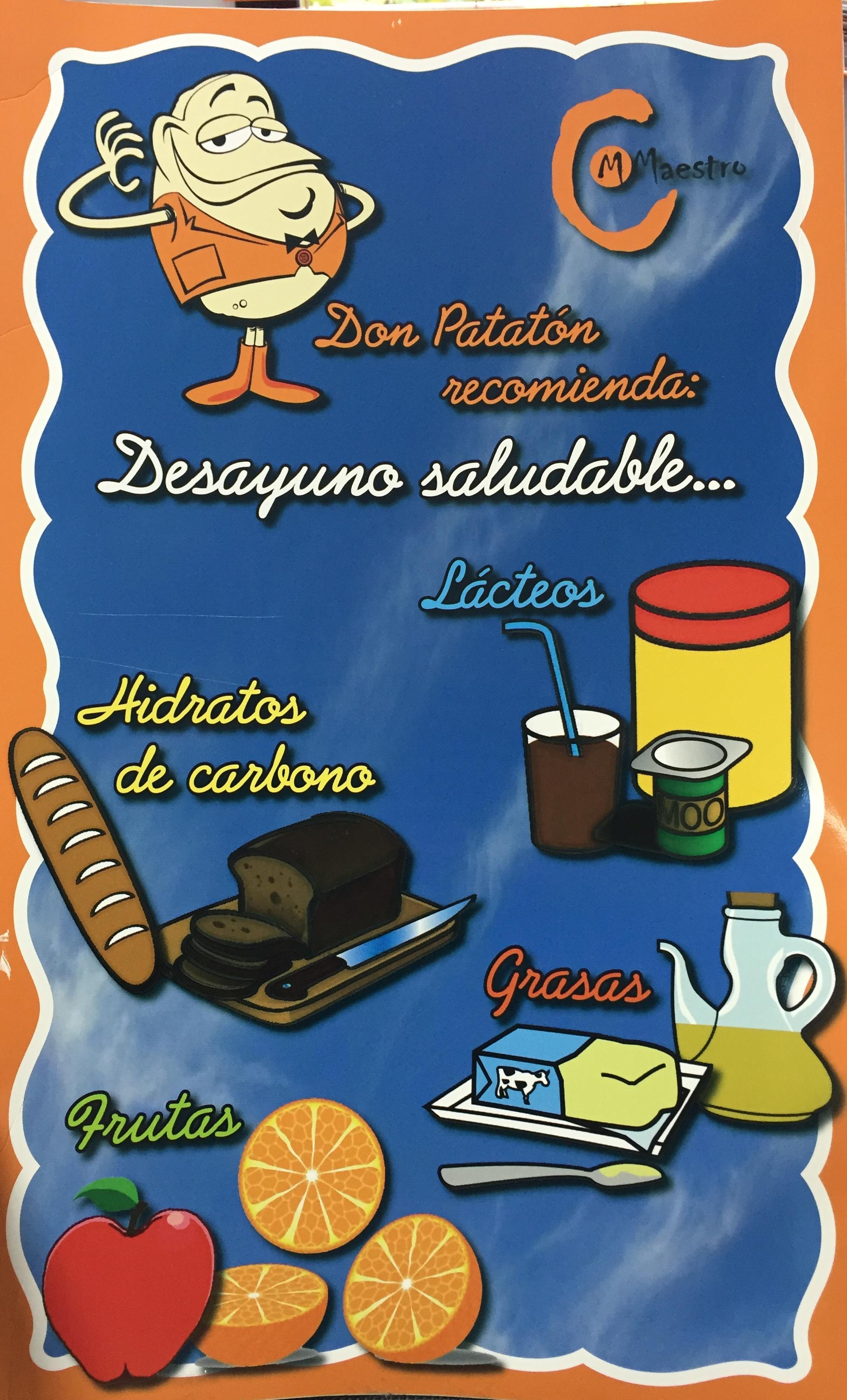 cartel desayunos saludables